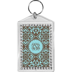 Floral Bling Keychain (Personalized)