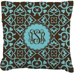 Floral Faux-Linen Throw Pillow (Personalized)