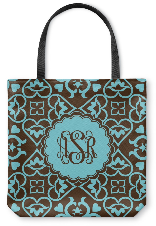 Floral Canvas Tote Bag - Medium - 16u0026quot;x16u0026quot; (Personalized) - YouCustomizeIt