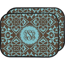 Floral Car Floor Mats (Back Seat) (Personalized)