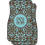 Floral Car Floor Mats (Front Seat) (Personalized)