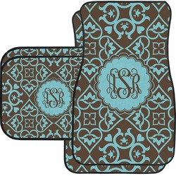 Floral Car Floor Mats Set - 2 Front & 2 Back (Personalized)