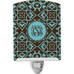 Floral Ceramic Night Light (Personalized)
