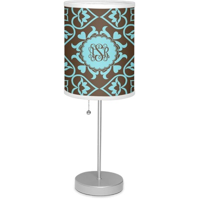 """Floral 7"""" Drum Lamp with Shade (Personalized)"""
