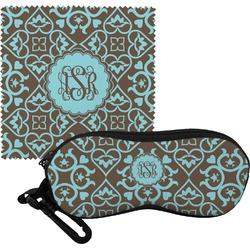 Floral Eyeglass Case & Cloth (Personalized)
