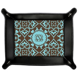 Floral Genuine Leather Valet Tray (Personalized)