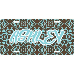 Floral Front License Plate (Personalized)