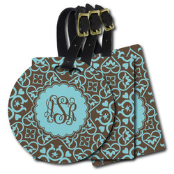 Floral Plastic Luggage Tags (Personalized)