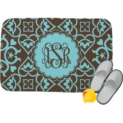 Floral Memory Foam Bath Mat (Personalized)