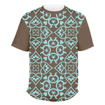 Floral Men's Crew T-Shirt (Personalized)