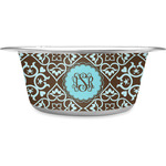 Floral Stainless Steel Dog Bowl (Personalized)
