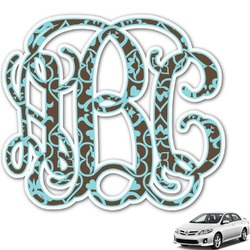 Floral Monogram Car Decal (Personalized)