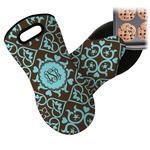 Floral Neoprene Oven Mitt (Personalized)