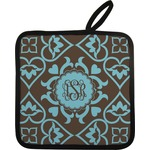 Floral Pot Holder w/ Monogram