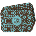 Floral Dining Table Mat - Octagon w/ Monogram