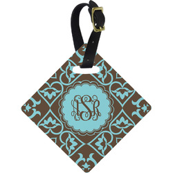 Floral Diamond Luggage Tag (Personalized)