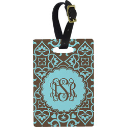 Floral Rectangular Luggage Tag (Personalized)