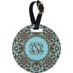 Floral Round Luggage Tag (Personalized)