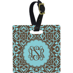 Floral Square Luggage Tag (Personalized)