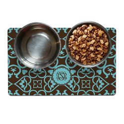 Floral Dog Food Mat (Personalized)