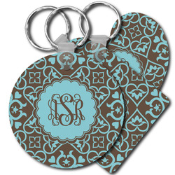 Floral Plastic Keychains (Personalized)