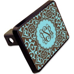 """Floral Rectangular Trailer Hitch Cover - 2"""" (Personalized)"""