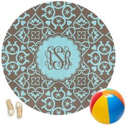 Floral Round Beach Towel (Personalized)