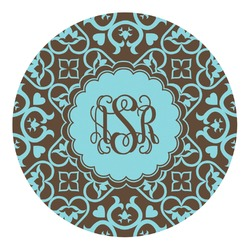 Floral Round Decal - Small (Personalized)