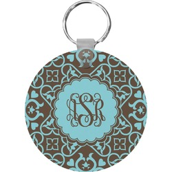Floral Round Keychain (Personalized)
