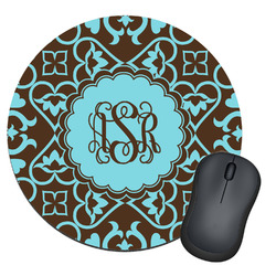 Floral Round Mouse Pad (Personalized)