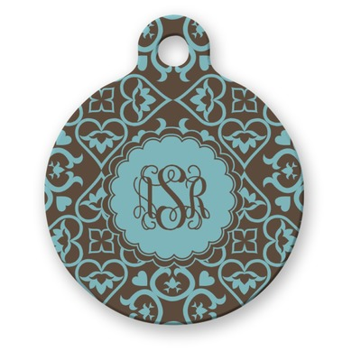 Floral Round Pet ID Tag (Personalized)