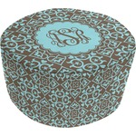 Floral Round Pouf Ottoman (Personalized)