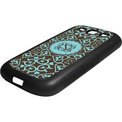 Floral Rubber Samsung Galaxy 3 Phone Case (Personalized)