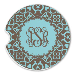 Floral Sandstone Car Coasters (Personalized)