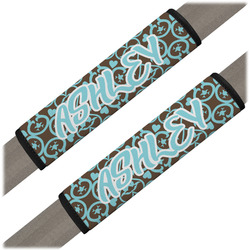 Floral Seat Belt Covers (Set of 2) (Personalized)