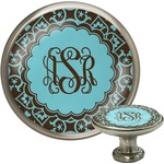 Floral Cabinet Knob (Silver) (Personalized)