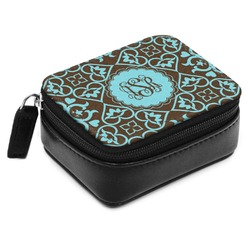 Floral Small Leatherette Travel Pill Case (Personalized)
