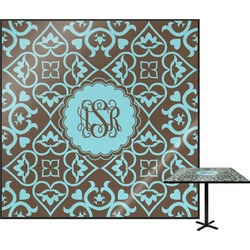 """Floral Square Table Top - 24"""" (Personalized)"""