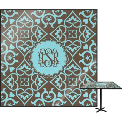 Floral Square Table Top (Personalized)