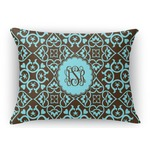 Floral Rectangular Throw Pillow Case (Personalized)