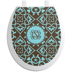 Floral Toilet Seat Decal (Personalized)