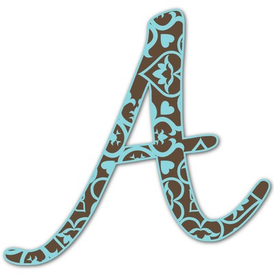 Floral Letter Decal - Custom Sizes (Personalized)