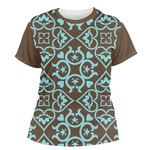 Floral Women's Crew T-Shirt (Personalized)