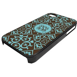 Floral Plastic 4/4S iPhone Case (Personalized)