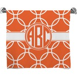 Linked Circles Full Print Bath Towel (Personalized)