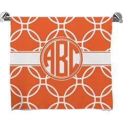 Linked Circles Full Print Bath Towel (Personalized)