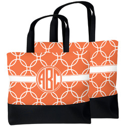 Linked Circles Beach Tote Bag (Personalized)