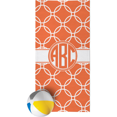 Linked Circles Beach Towel (Personalized)