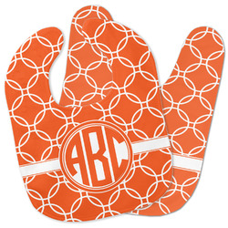 Linked Circles Baby Bib w/ Monogram