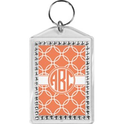 Linked Circles Bling Keychain (Personalized)